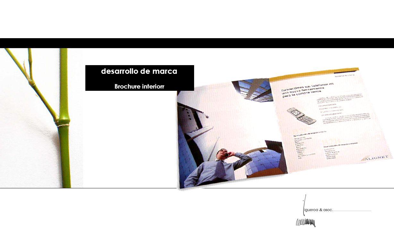 desarrollo de marca Brochure interiorr