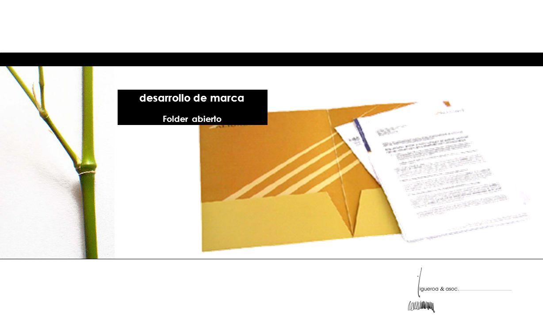 desarrollo de marca Folder abierto