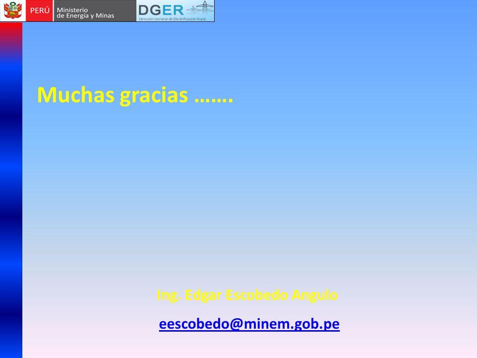 PROYECTOS DE LOS GOBIERNOS LOCALES A EJECUTARSE EN EL 2012 Muchas gracias ……. Ing. Edgar Escobedo Angulo eescobedo@minem.gob.pe