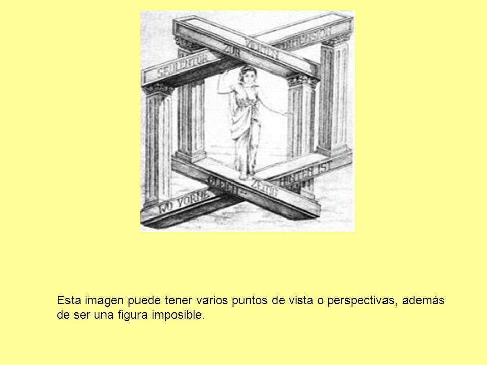 Esta imagen puede tener varios puntos de vista o perspectivas, además de ser una figura imposible.