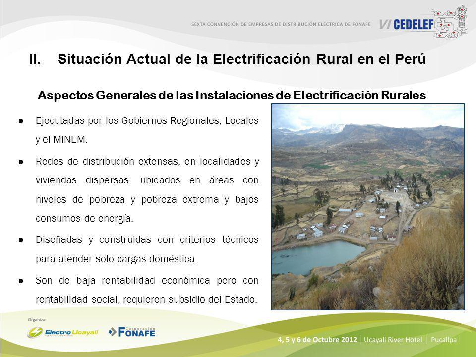 D.S. Nº 028-2008-EM:Sectores de Distribución típicos para el período Nov. 2009 – Oct. 213. D.U. 116-2009:Se promueve el suministro de energía en zonas
