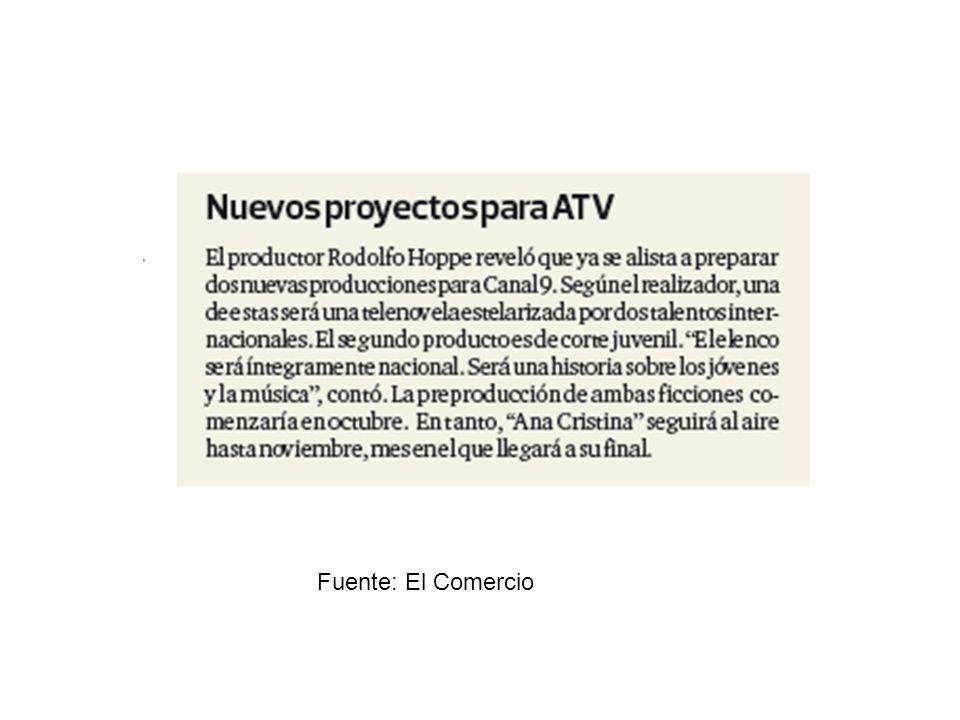 Fuente: El Comercio