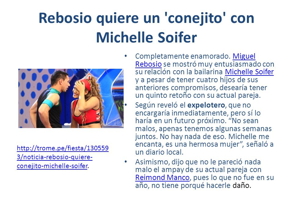 Rebosio quiere un conejito con Michelle Soifer Completamente enamorado.