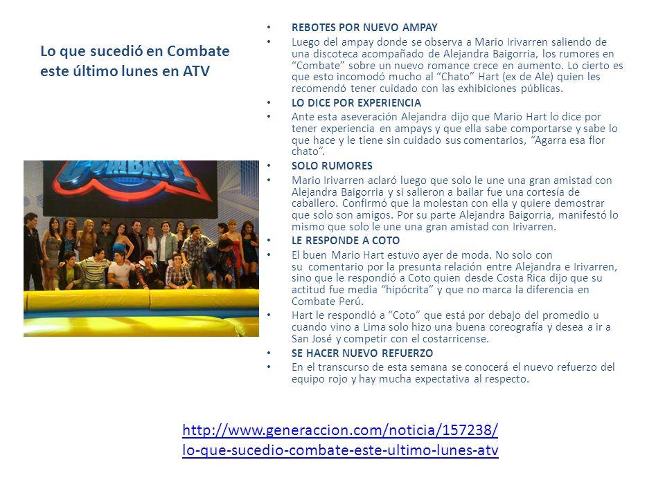 Magaly TeVe y Combate siguen firmes en el rating Las producciones nacionales de ATV, Magaly TeVe y Combate continúan firmes en el rating del día lunes contando con el respaldo del televidente nacional.