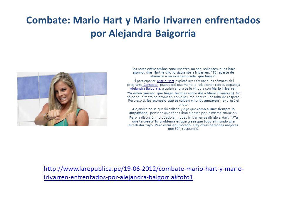 FOTOS: Alejandra Baigorria, la mujer que vuelve locos a los participantes de Combate http://peru.com/2012/06/19/entretenimiento/tv/fotos-alejandra- baigorria-mujer-que-vuele-locos-participantes-combate-noticia-70516- 285612