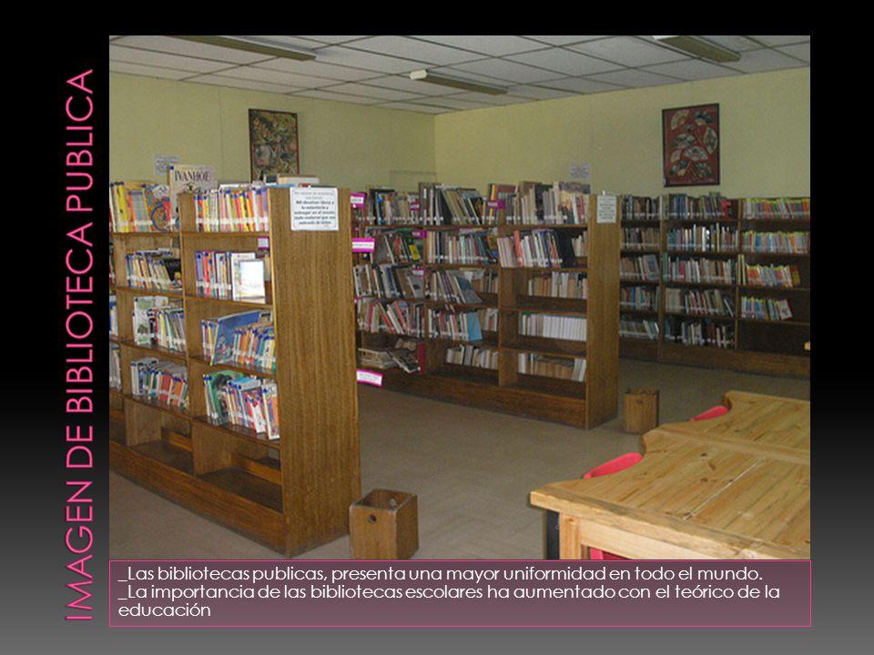 _Las bibliotecas publicas, presenta una mayor uniformidad en todo el mundo.