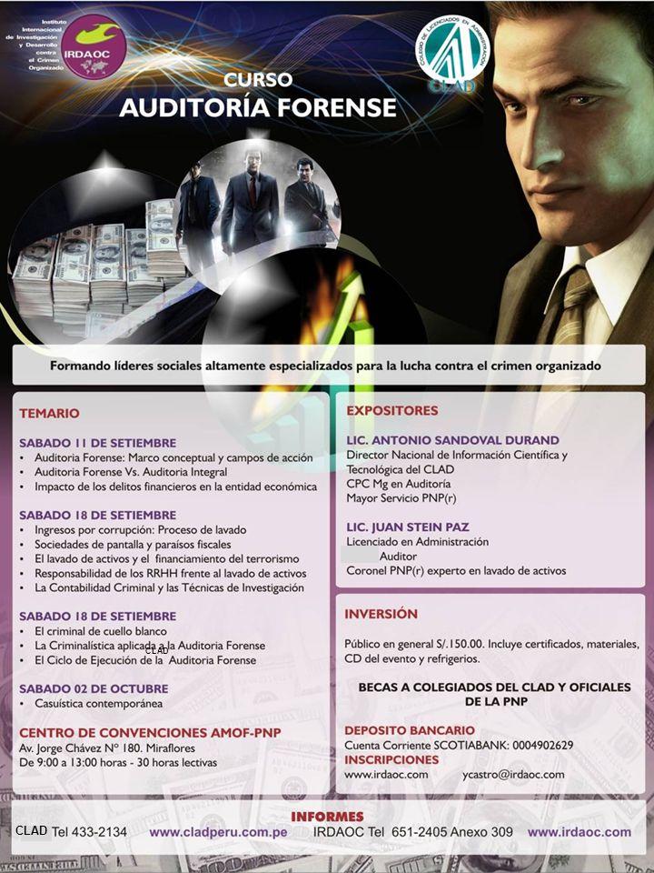 COLEGIO DE LICENCIADOS EN ADMINISTRACIÓN CONSEJO DIRECTIVO NACIONAL Informes e inscripción: Jr.