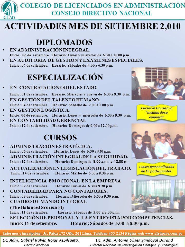Lic.Adm. Gabriel Rubén Rojas Aspilcueta. Lic. Adm.