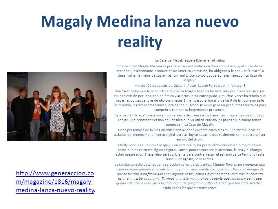 Magaly Medina lanza nuevo reality La Casa de Magaly espera liderar en el rating Una vez más Magaly Medina se prepara para enfrentar una dura competenc