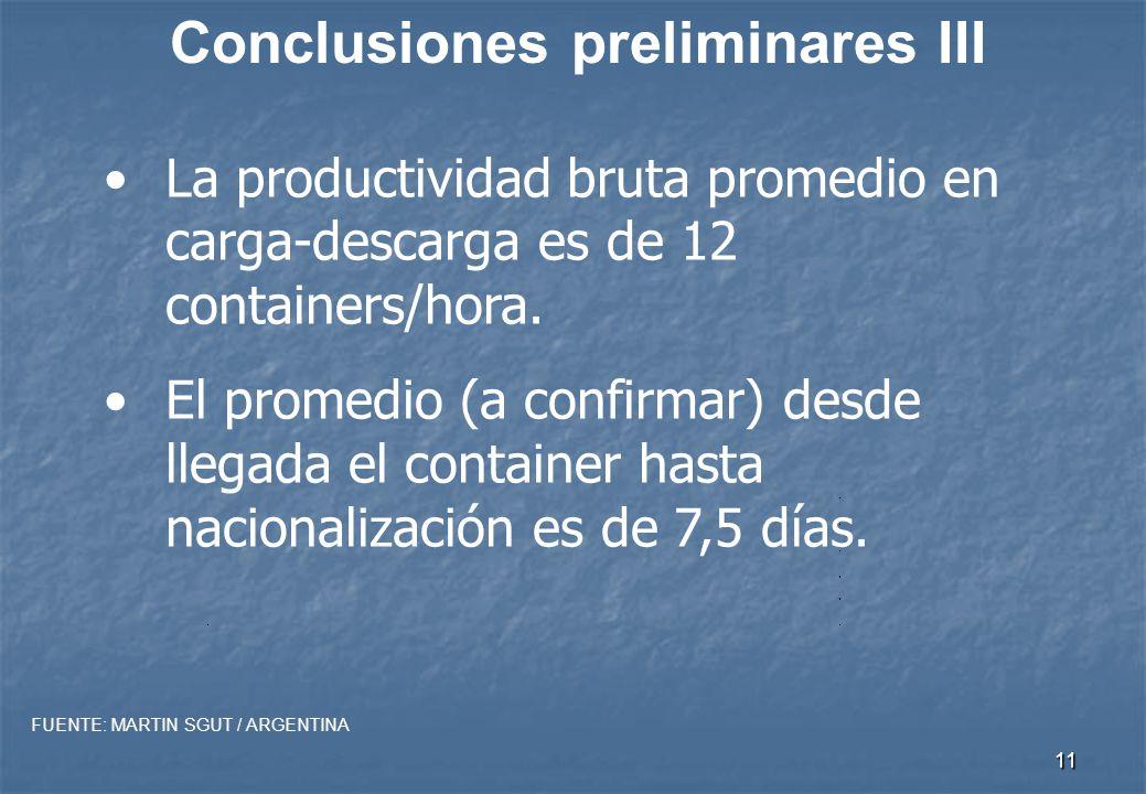 10 Conclusiones preliminares II Los usos y costumbres de facturación son extremadamente complejos.