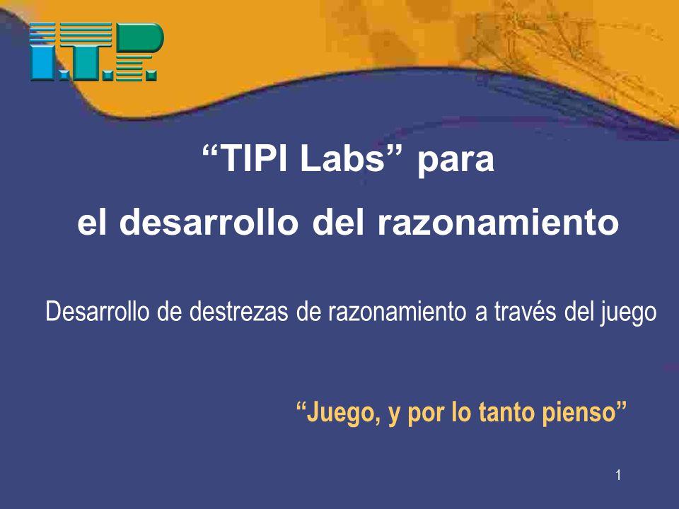 1 Juego, y por lo tanto pienso TIPI Labs para el desarrollo del razonamiento Desarrollo de destrezas de razonamiento a través del juego