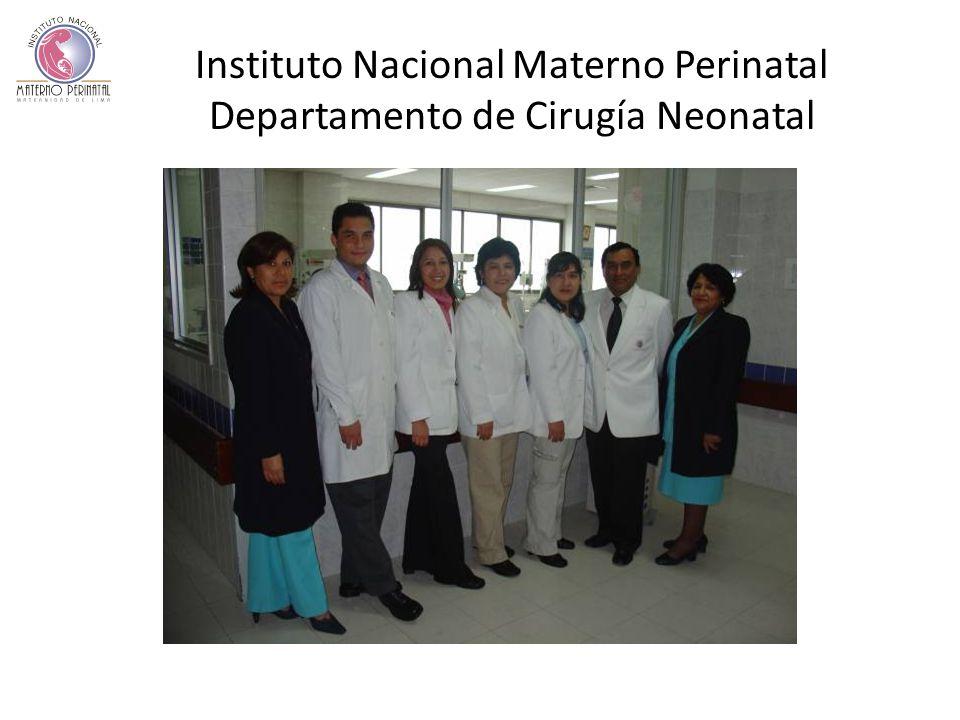 Instituto Nacional Materno Perinatal Departamento de Cirugía Neonatal