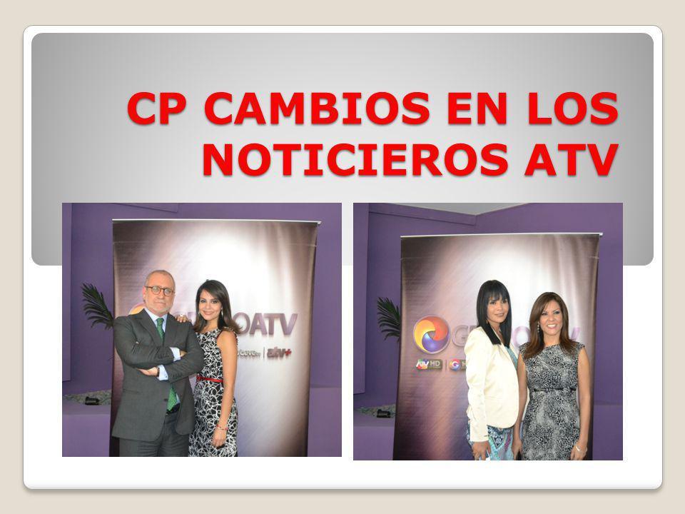 Conoce los cambios en la conducción de noticieros en ATV Conoce los cambios en la conducción de noticieros en ATV A partir del lunes 19, la periodista Carolina Macedo acompañará a Augusto Álvarez-Rodrich en la conducción del espacio matutino de ATV, Primera Noticia.