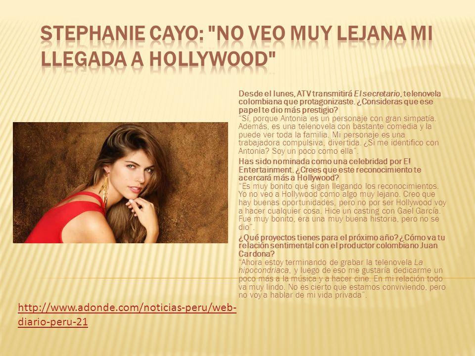 Desde el lunes, ATV transmitirá El secretario, telenovela colombiana que protagonizaste.