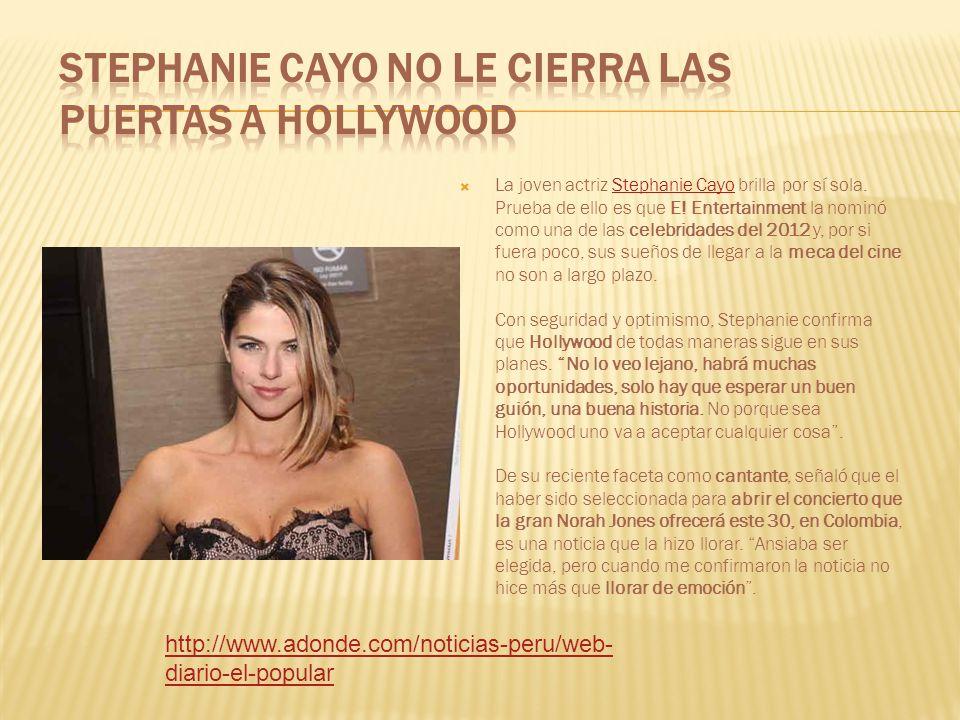 La joven actriz Stephanie Cayo brilla por sí sola.