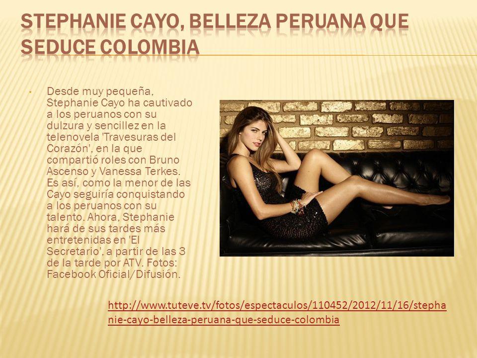 Desde muy pequeña, Stephanie Cayo ha cautivado a los peruanos con su dulzura y sencillez en la telenovela Travesuras del Corazón , en la que compartió roles con Bruno Ascenso y Vanessa Terkes.