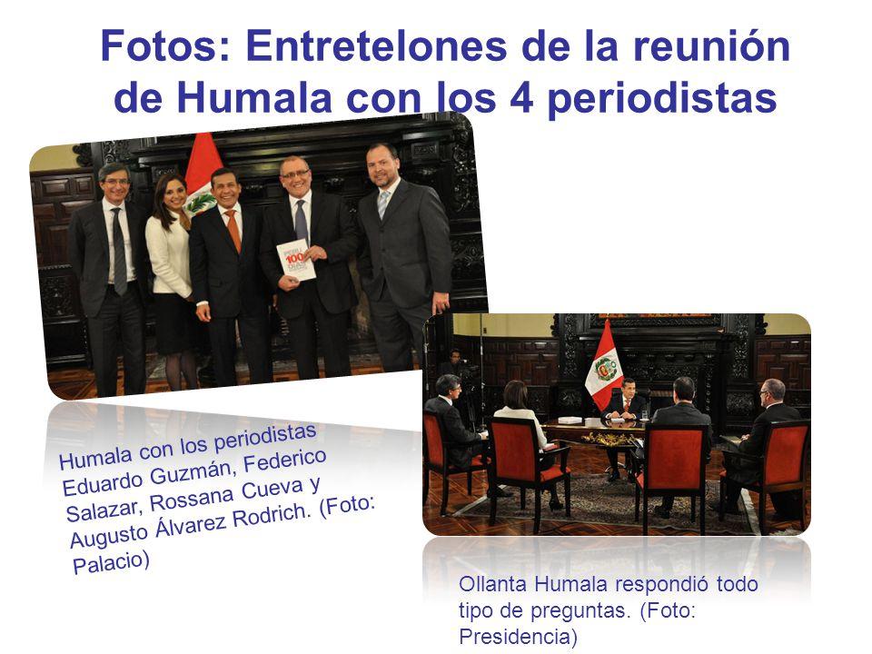 Fotos: Entretelones de la reunión de Humala con los 4 periodistas Ollanta Humala respondió todo tipo de preguntas. (Foto: Presidencia) Humala con los