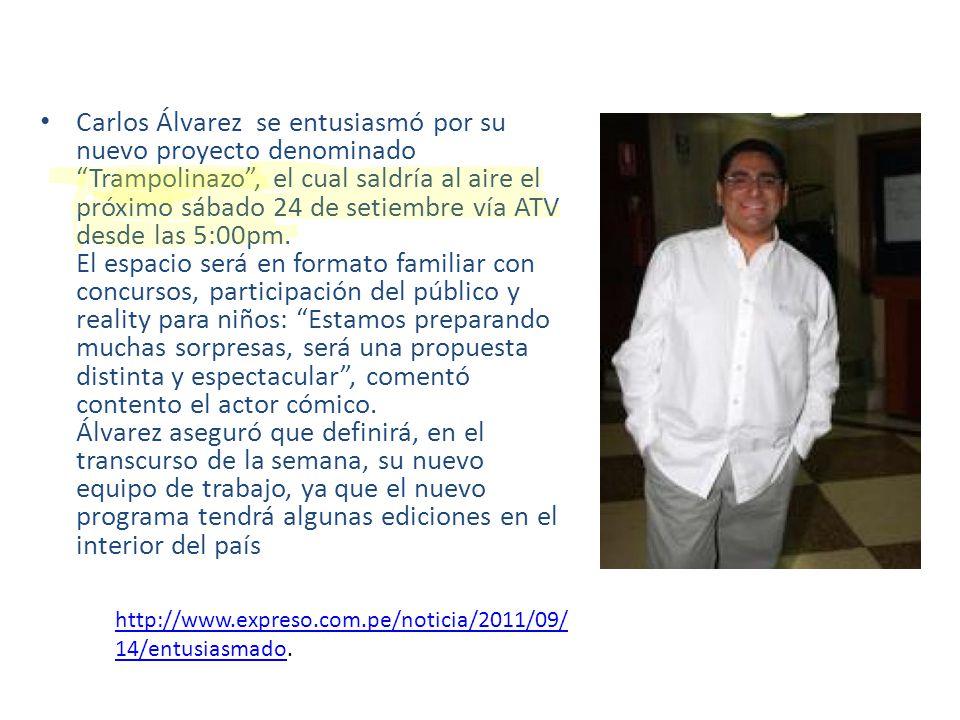 Carlos Álvarez se entusiasmó por su nuevo proyecto denominado Trampolinazo, el cual saldría al aire el próximo sábado 24 de setiembre vía ATV desde la