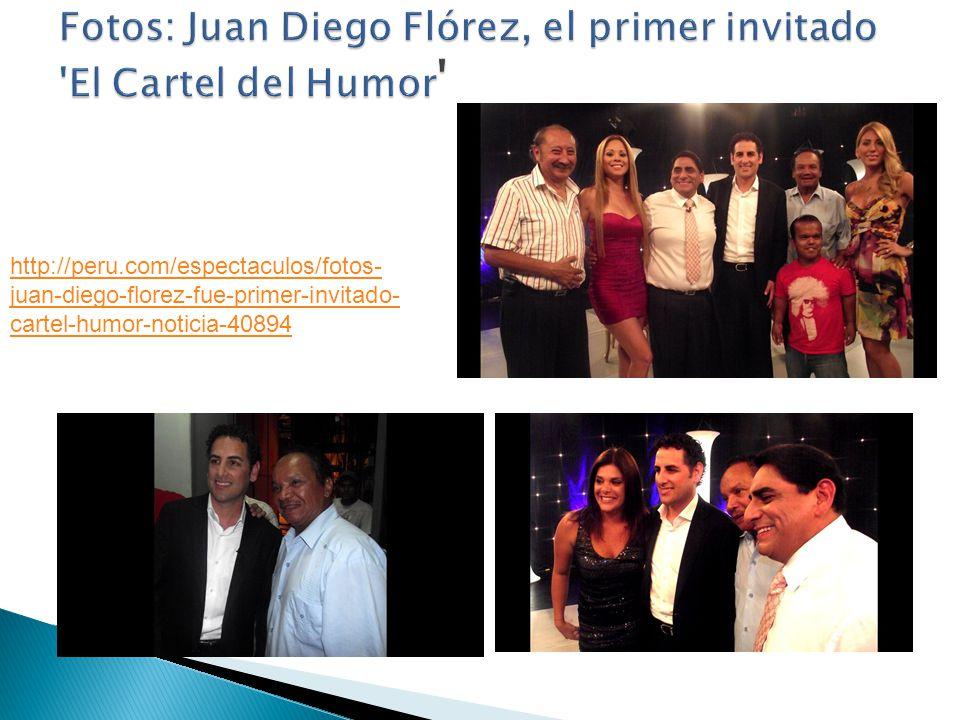 El tenor peruano Juan Diego Flórez es el primer invitado especial del humorista Carlos Álvarez para el estreno del programa El cartel del humor.