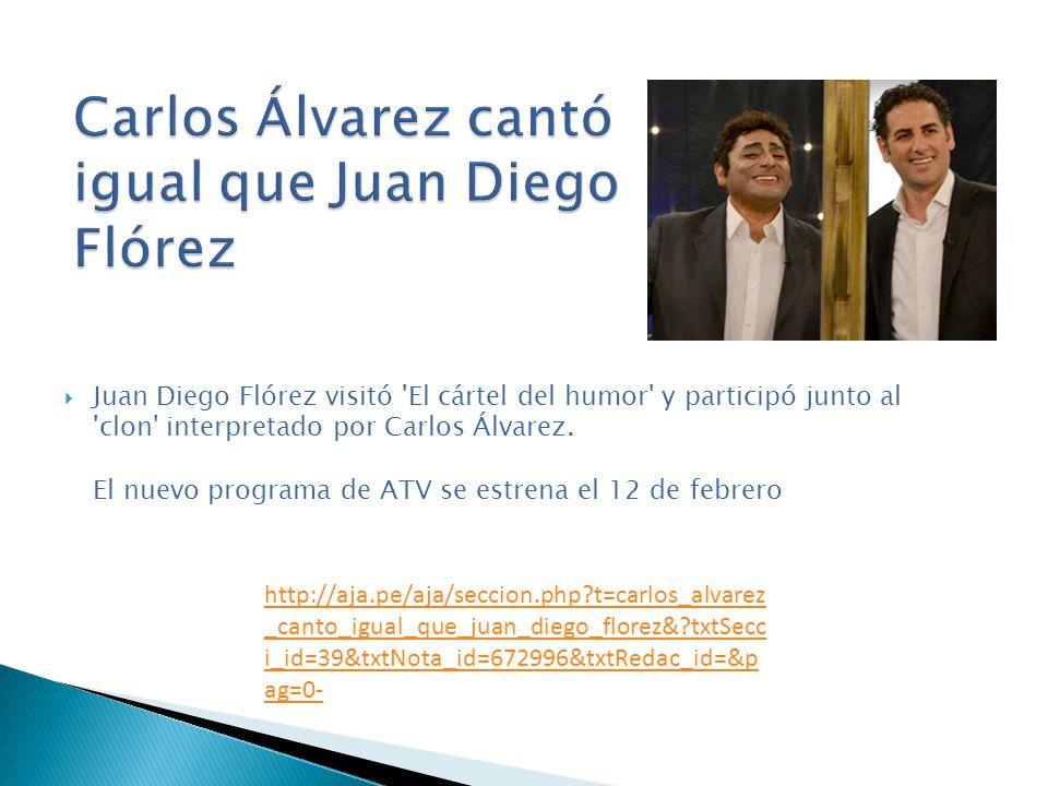 Juan Diego Flórez visitó 'El cártel del humor' y participó junto al 'clon' interpretado por Carlos Álvarez. El nuevo programa de ATV se estrena el 12
