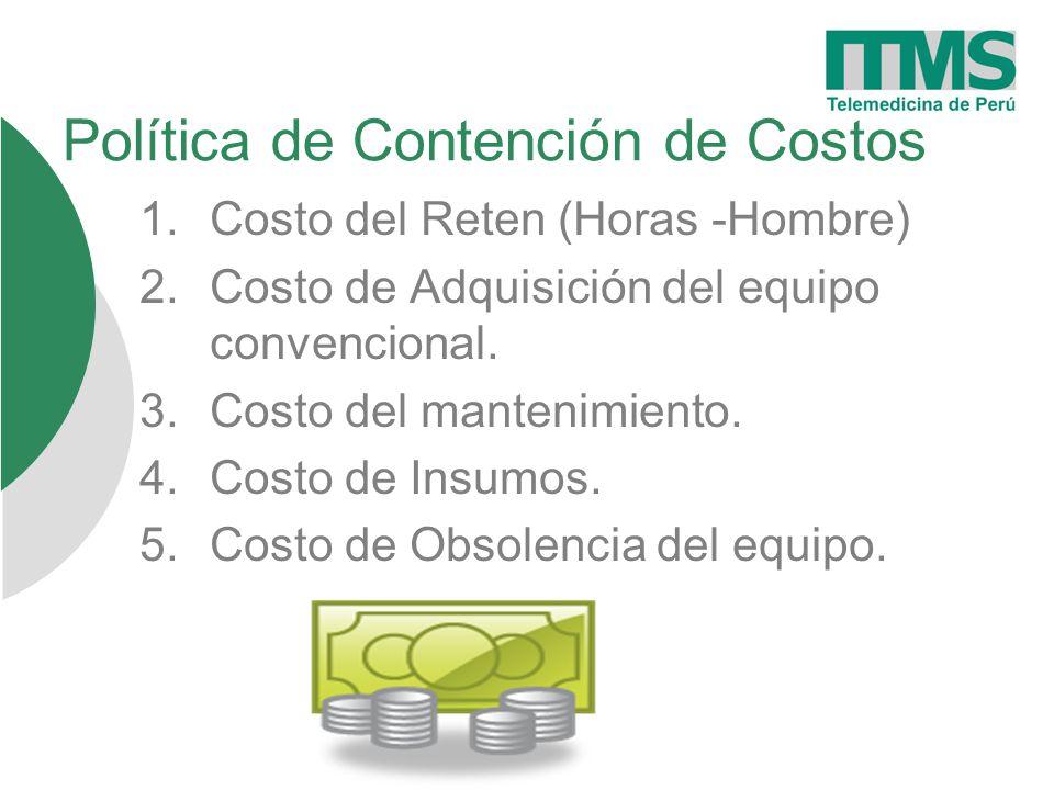 Política de Contención de Costos 1.Costo del Reten (Horas -Hombre) 2.Costo de Adquisición del equipo convencional.