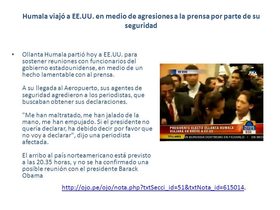 Humala viajó a EE.UU.