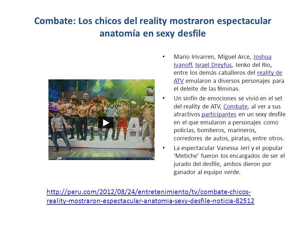 Combate: Los chicos del reality mostraron espectacular anatomía en sexy desfile Mario Irivarren, Miguel Arce, Joshua Ivanoff, Israel Dreyfus, Jenko de