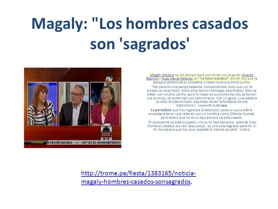 Rosa María Palacios a Magaly Medina: Hoy todo saldrá bien La conductora de TV Rosa María Palacios indicó que el programa Magaly TeVe es lo más esperado por el público.