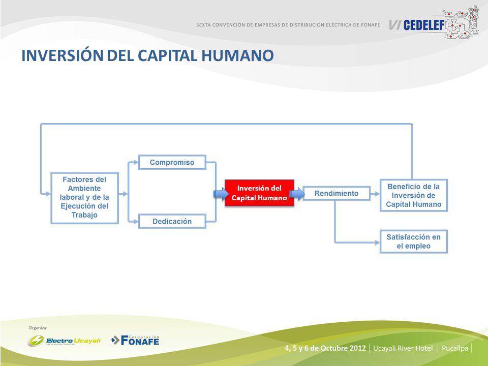 INVERSIÓN DEL CAPITAL HUMANO Inversión del Capital Humano