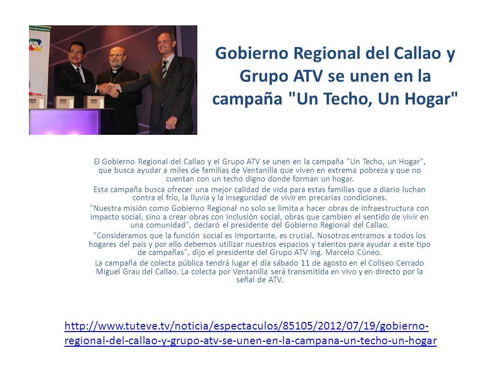 Gobierno Regional del Callao y Grupo ATV se unen en la campaña