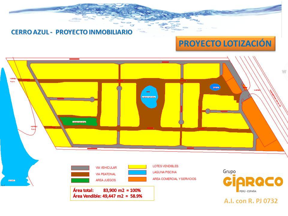 CERRO AZUL - PROYECTO INMOBILIARIO PROYECTO LOTIZACIÓN A.I. con R. PJ 0732