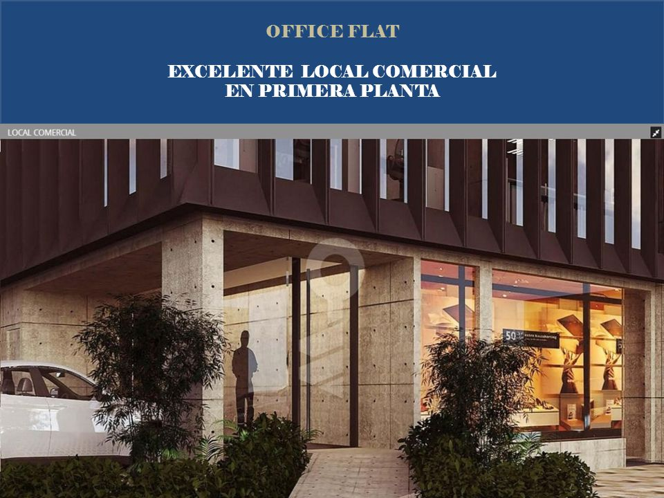 OFFICE FLAT EXCELENTE LOCAL COMERCIAL EN PRIMERA PLANTA