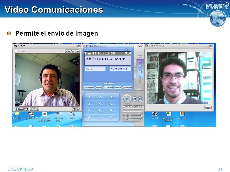 SITE Chile S.A. 37 Video Comunicaciones Permite el envío de Imagen