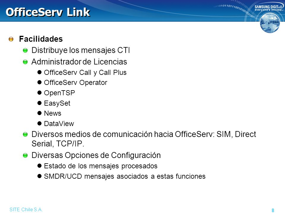 SITE Chile S.A. 19 OfficeServ Operator
