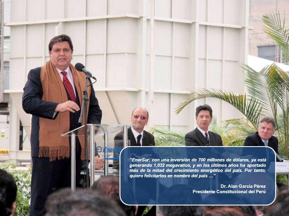 El hecho que EnerSur haya contribuido con el 52% de toda la nueva generación instalada en el Perú en los últimos 5 años, realmente refleja nuestro compromiso con el desarrollo del país Jan Flachet Presidente del Directorio de EnerSur