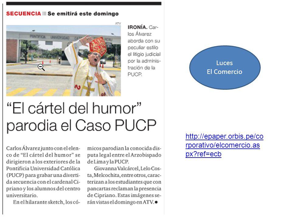 Luces El Comercio http://epaper.orbis.pe/co rporativo/elcomercio.as px?ref=ecb