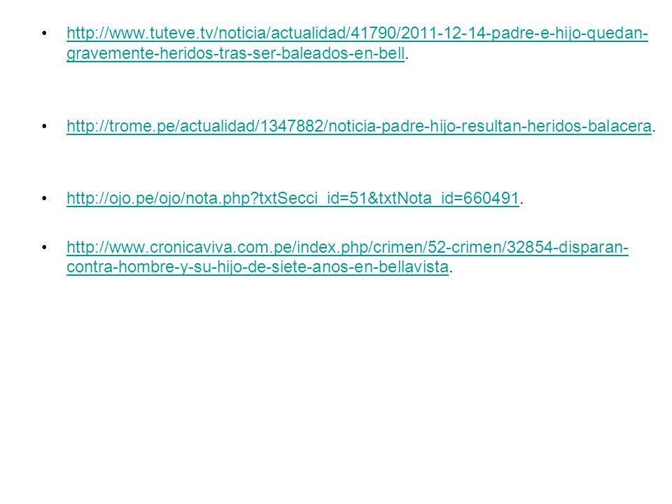 http://www.tuteve.tv/noticia/actualidad/41790/2011-12-14-padre-e-hijo-quedan- gravemente-heridos-tras-ser-baleados-en-bell.http://www.tuteve.tv/notici