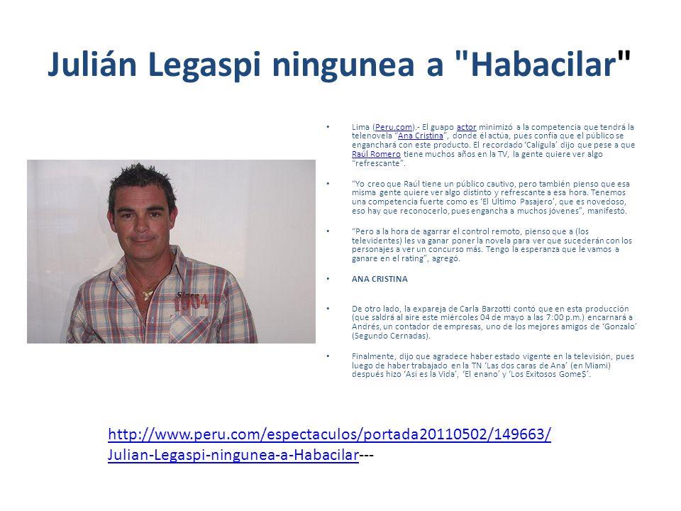 Julián Legaspi ningunea a