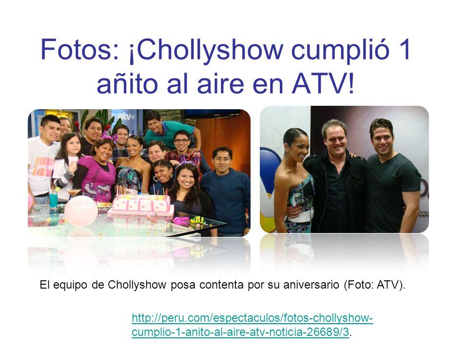Fotos: ¡Chollyshow cumplió 1 añito al aire en ATV! El equipo de Chollyshow posa contenta por su aniversario (Foto: ATV). http://peru.com/espectaculos/