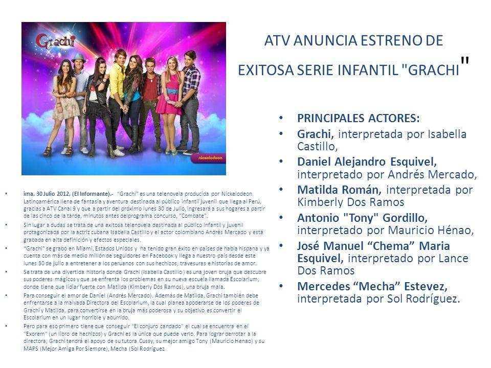 ATV ANUNCIA ESTRENO DE EXITOSA SERIE INFANTIL