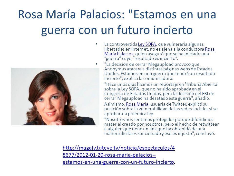 Rosa María Palacios: