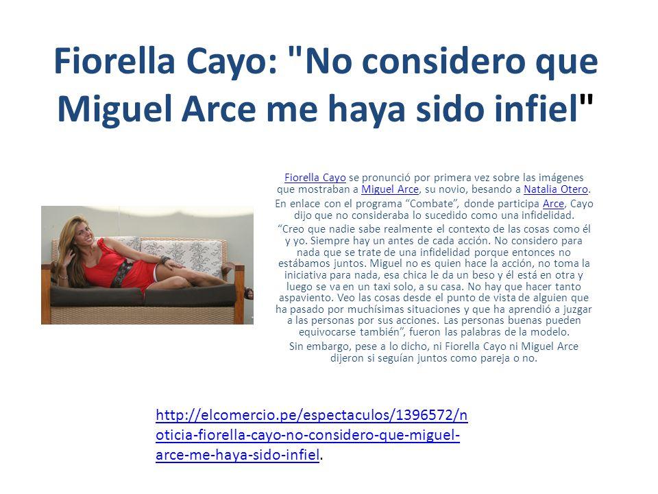 Fiorella Cayo: