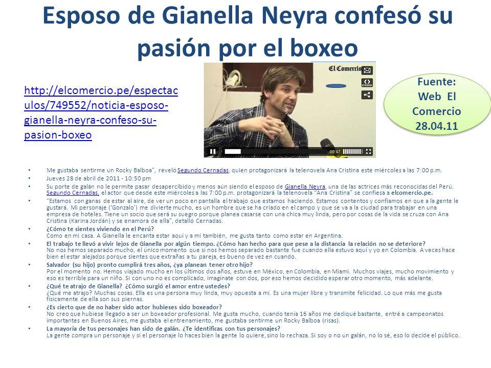 Gianella Neyra Esposo Esposo de Gianella Neyra