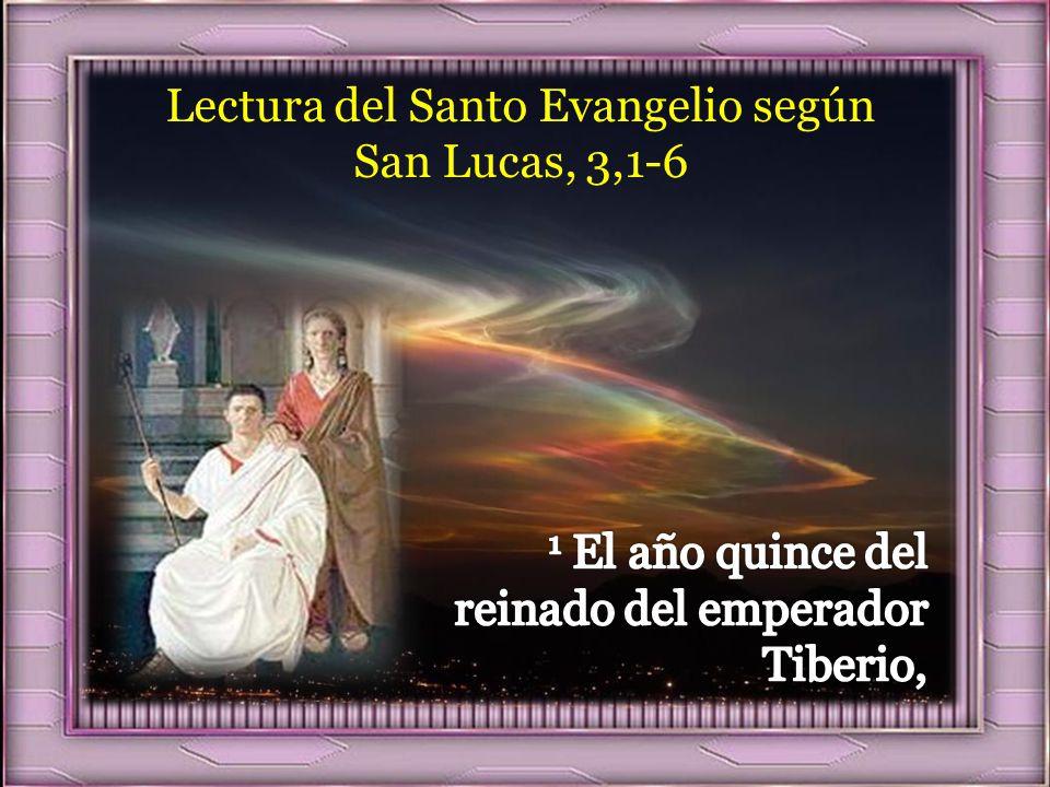 I. LECTIO ¿Qué dice el texto? – Lucas 3,1-6 Así, en la región del Jordán, Juan predica un bautismo de conversión para el perdón de los pecados. En él
