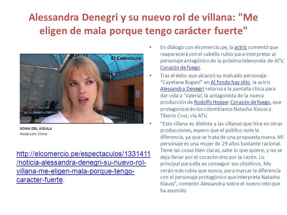 En diálogo con elcomercio.pe, la actriz comentó que reaparecerá con el cabello rubio para interpretar al personaje antagónico de la próxima telenovela