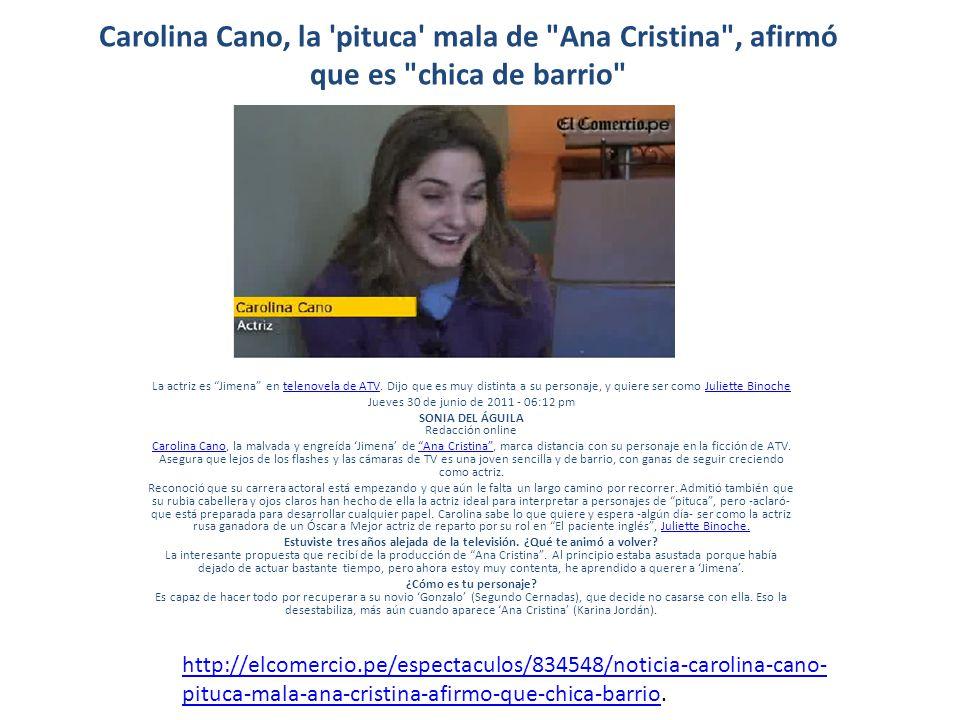 Carolina Cano, la 'pituca' mala de