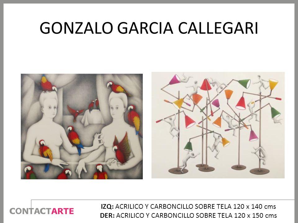 GONZALO GARCIA CALLEGARI IZQ: ACRILICO Y CARBONCILLO SOBRE TELA 120 x 140 cms DER: ACRILICO Y CARBONCILLO SOBRE TELA 120 x 150 cms