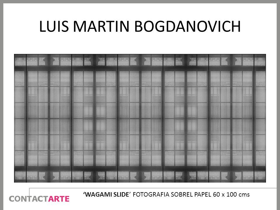 LUIS MARTIN BOGDANOVICH WAGAMI SLIDE FOTOGRAFIA SOBREL PAPEL 60 x 100 cms