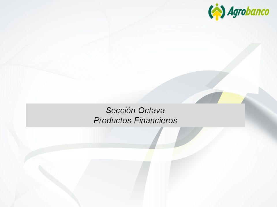 Sección Octava Productos Financieros