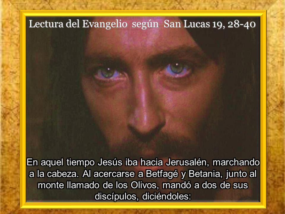 I. LECTIO ¿ Qué dice el texto? – Lucas 19, 28- 40